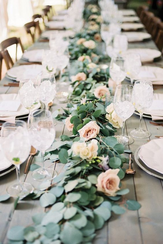 18 Rustic Greenery Wedding Table Decorations You Will Love
