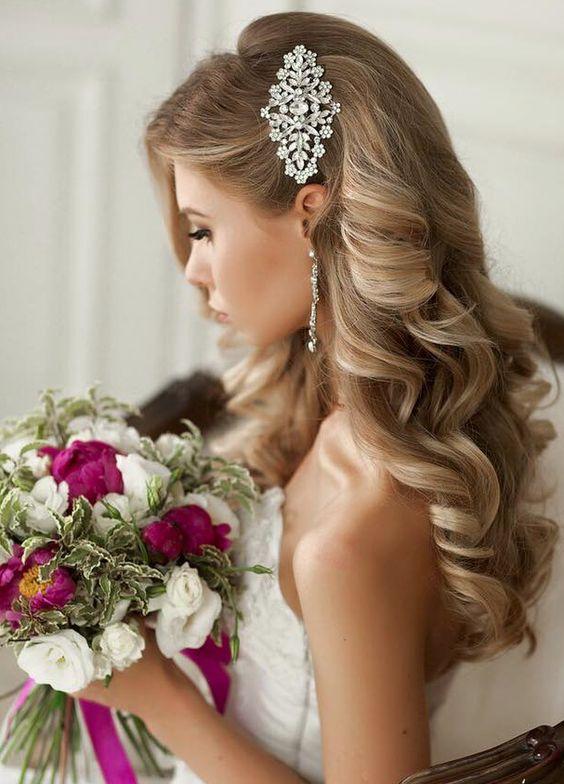 Loose Natural Wedding Hairstyles