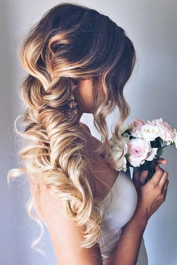 Ombre Long Wedding Hairstyles