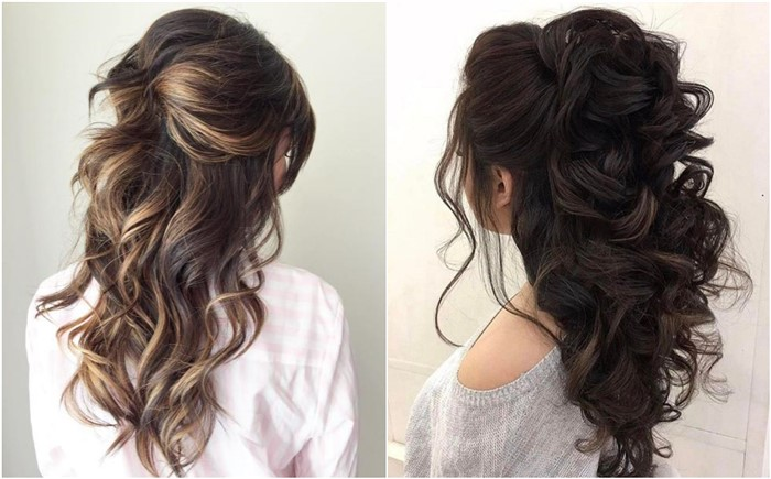 20 Half Up Down Wedding Hairstyles Anyone Would Love
