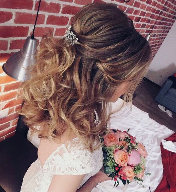 Half Up Half Down Braided Wedding Hairstyles: 20 Half Up Half Down Wedding Hairstyles Anyone Would Love