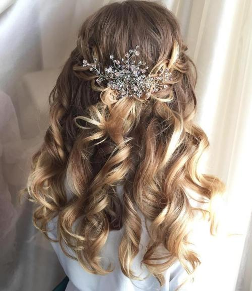 20 Half Up Half Down Wedding Hairstyles Anyone Would Love