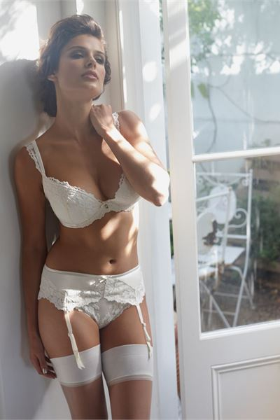 gorgeous white lingerie for the big day