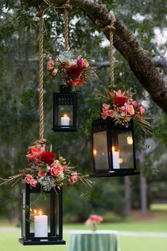 20 Rustic Lantern Wedding Decoration Ideas To Light Up Your