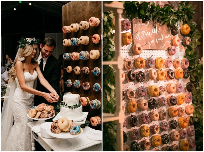 Latest Catering Trend Of 2018 Mouth Watering Donut Wedding Wall Decoration Ideas