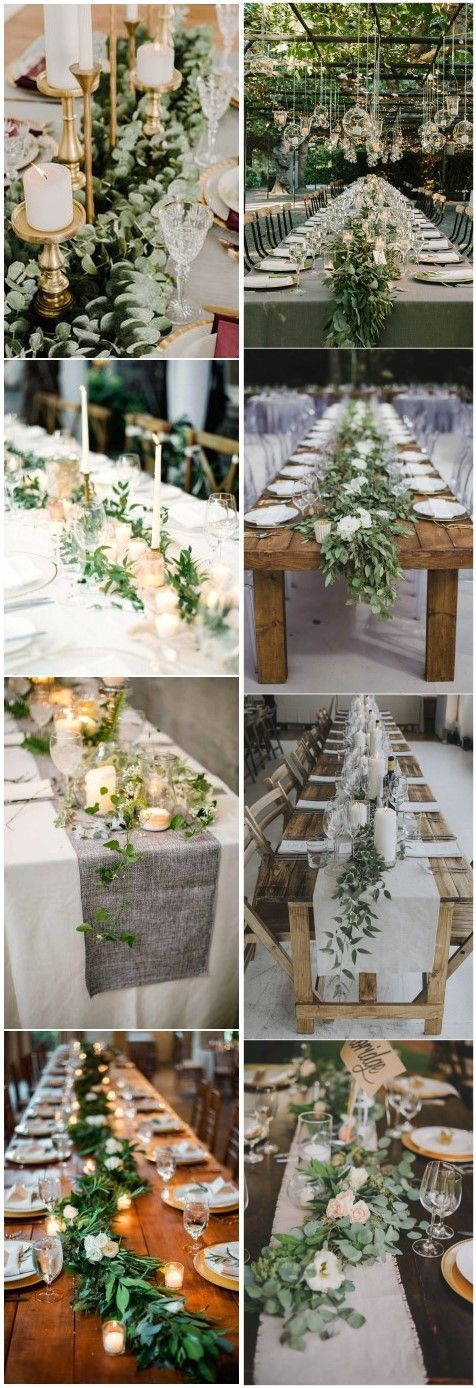 Rustic Greenery Wedding Table Decorations You Will Love