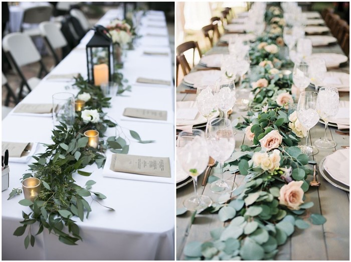 18 rustic greenery wedding table decorations you will love! - chicwedd Table Decorations