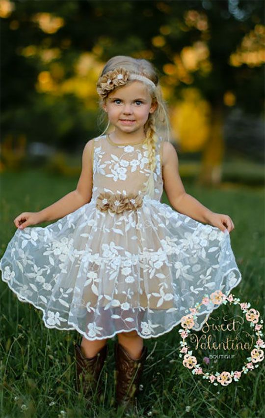 Princess Dress For Girls Vintage Flower Girl Dresses