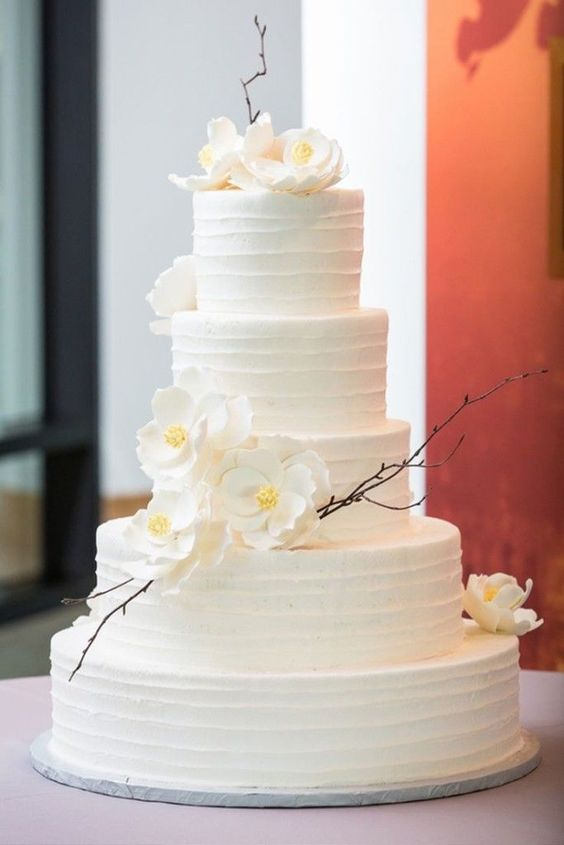 wedding cake designs 2018 18 simple white wedding cakes ideas for your 2019 wedding 22468