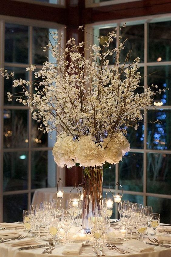 20 Rustic Baby's Breath Wedding Centerpiece Decorations Ideas
