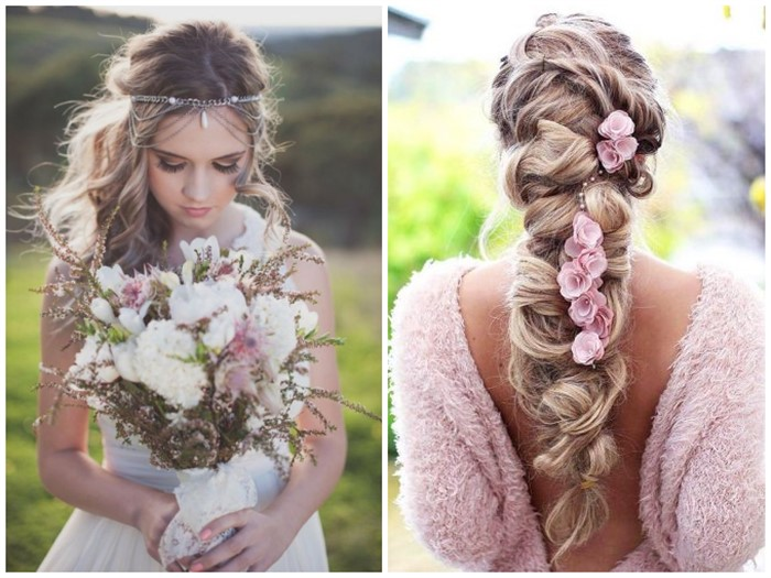 Wedding Hair Hairstyles: 21 BOHO INSPIRED Unique And Creative Wedding Hairstyles