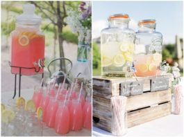 Creative Wedding Drink Bar Ideas for Outdoor Wedding