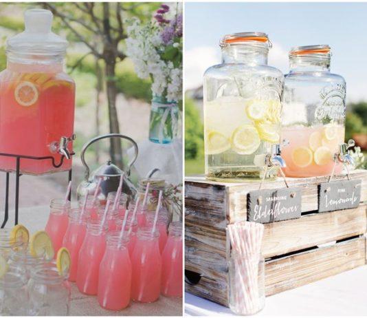 Creative Wedding Drink Bar Ideas for Outdoor Wedding