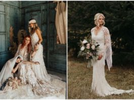 Fringe Wedding Dresses for Bohemian Brides