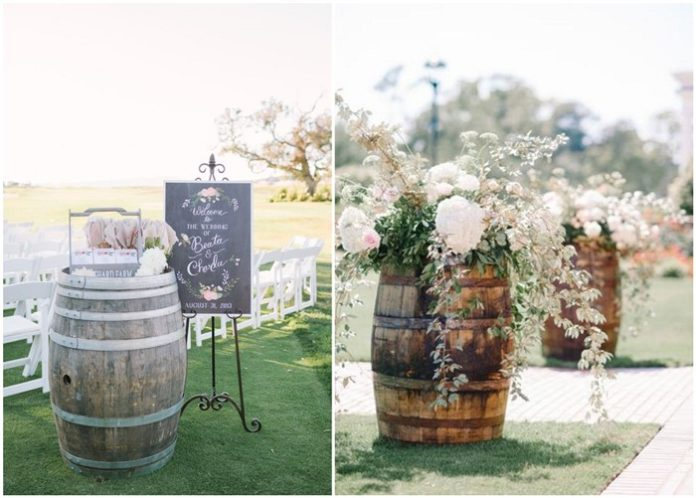 Marvelous DIY Wine Barrel Wedding Decoration Ideas