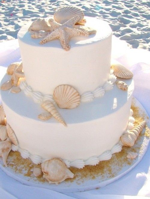 19 Mouth-watering Beach Wedding Cakes To Get Inspired