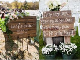 Rustic Budget-Friendly Wedding Signs Ideas