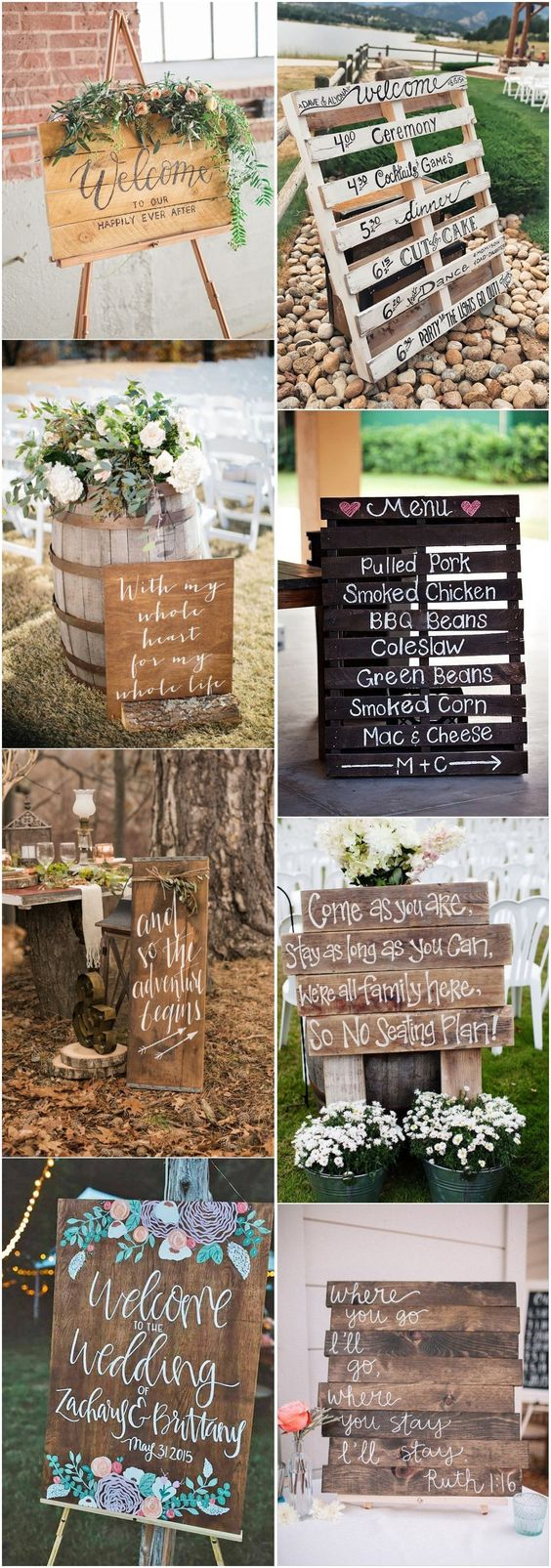 Rustic wedding signs are definitely one of the most popular items of all.