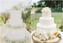 Simple White Wedding Cakes Ideas