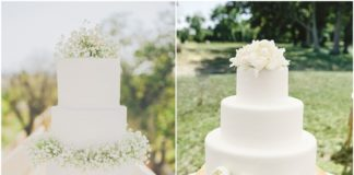 Simple White Wedding Cakes Ideas