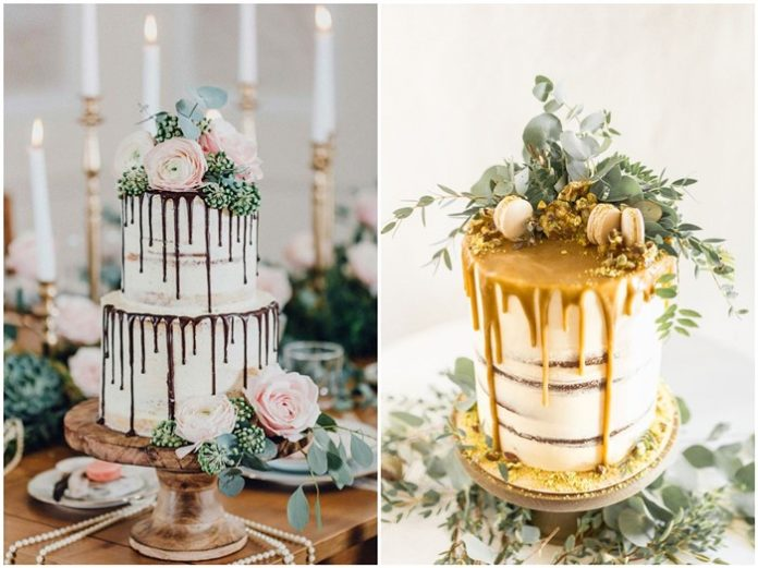 Unique and Beautiful Drip Wedding Cake pics You Can't Resist!
