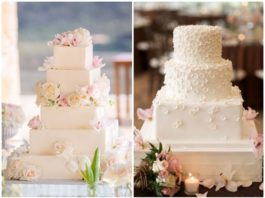 Unique and Eye-catching Square Wedding Cake Ideas for your wedding