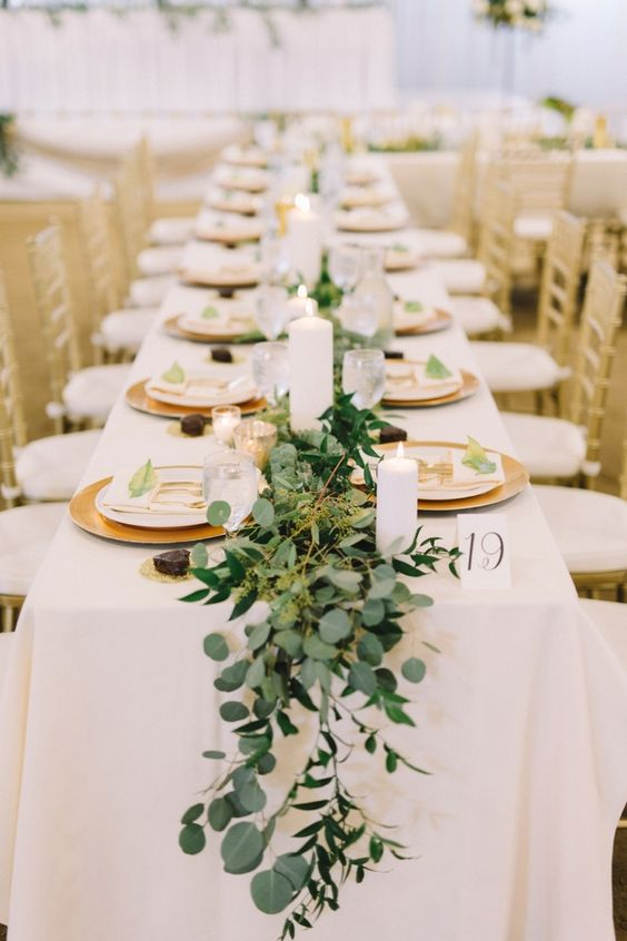 Tremendous 16 Trendy Greenery Wedding Centerpieces With Candles Chicwedd Download Free Architecture Designs Grimeyleaguecom