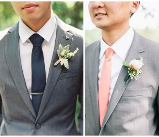 Eye-popping Grey Groom Suits