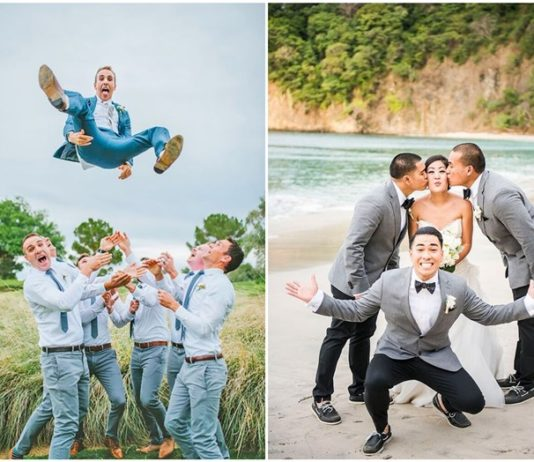Hilarious and Creative Groomsmen Photo
