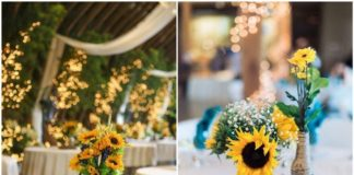 Rustic Sunflower Wedding Centerpiece Ideas for Summer and Fall Weddings