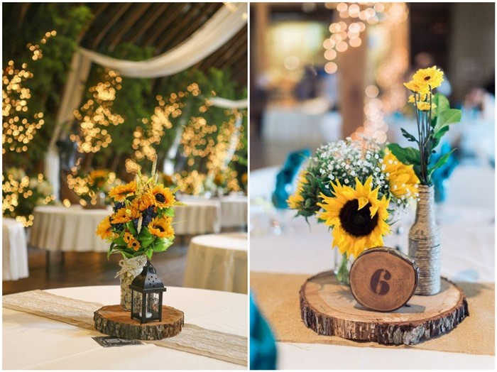 16 rustic sunflower wedding centerpiece ideas for summer and fall rustic sunflower wedding centerpiece ideas for summer and fall weddings junglespirit Image collections