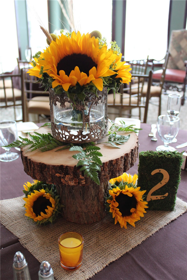 16 Rustic Sunflower Wedding Centerpiece Ideas For Summer And Fall