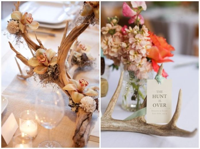 Use Deer Antler for Your Rustic or Boho Wedding