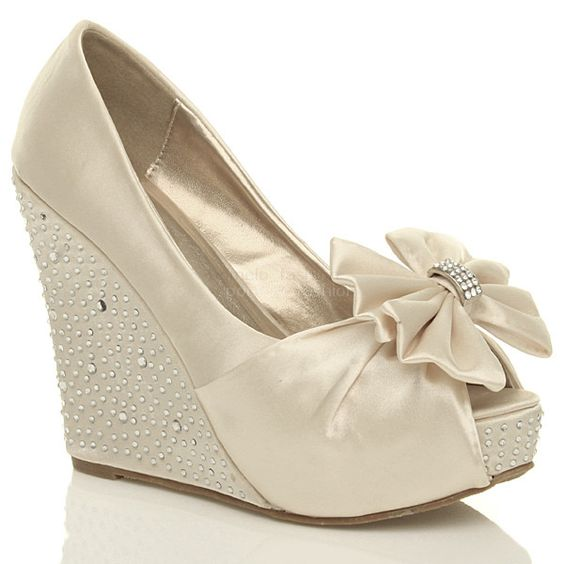 Wedge Heel Shoes For Wedding: 16 White Wedge Wedding Shoes With Brilliant Details