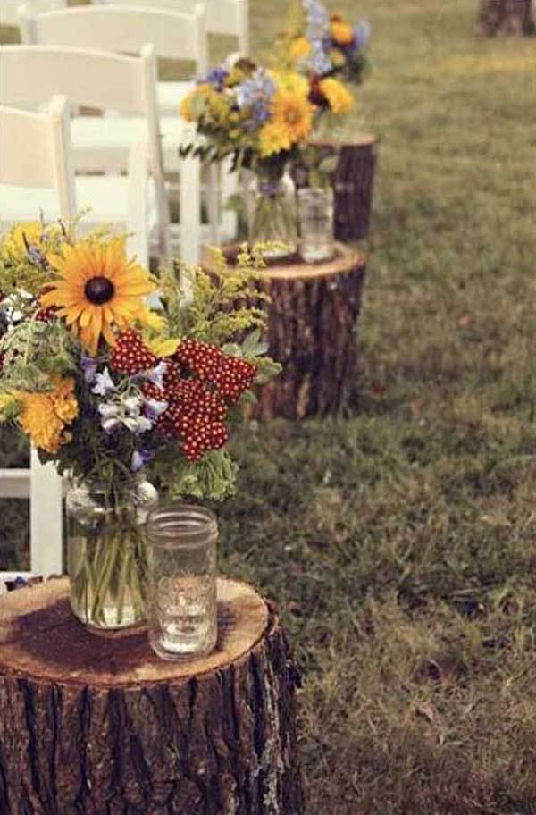 Fall Sunflowers décor from Woman Getting Married