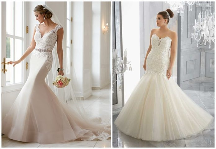 Flattering Mermaid Wedding Dresses