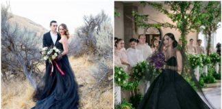 Romantic and Stylish Black Wedding Dresses
