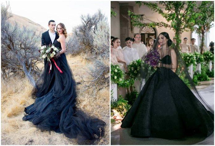 Romantic and Stylish Black Wedding Dresses