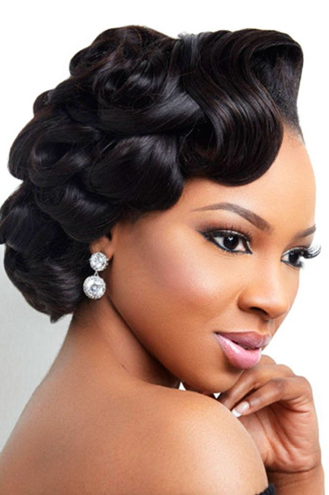 37 Wedding Hairstyles For Black Women To Drool Over 2017: 18 Wedding Hairstyles For Black Women To Drool Over 2018