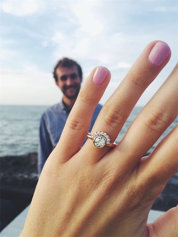 This unique engagement ring is perfect for the unconventional bride