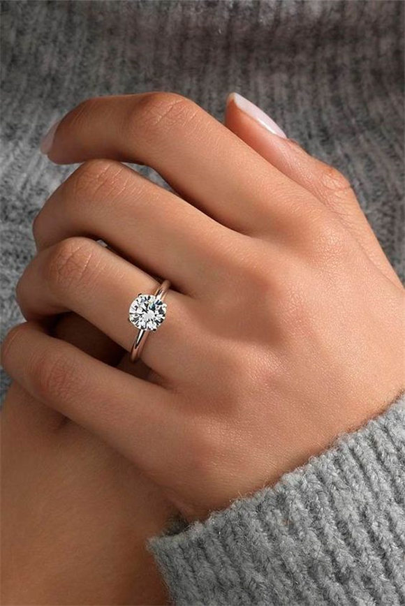 Rose gold engagement rings are on the edge of popularity these days