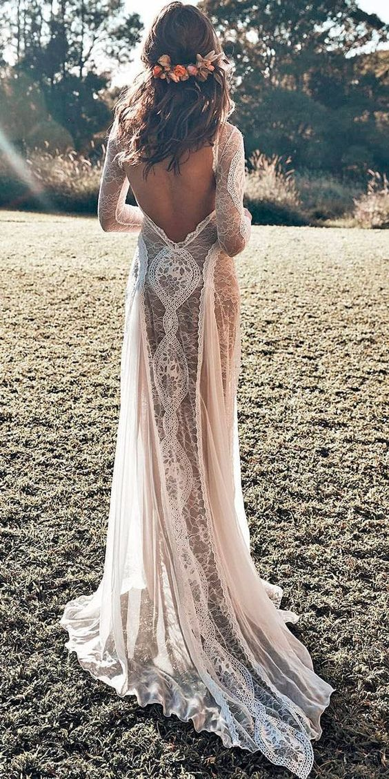 53967ec9e098 32 Beach Wedding Dresses Ideas to Stand Out! - ChicWedd