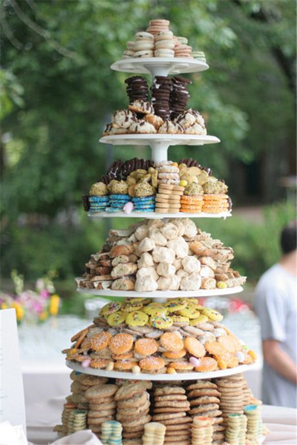 This cookie tower is made of salty chocolate wonders