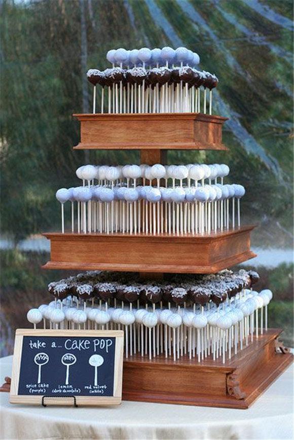 Wedding cake made of cake pops...