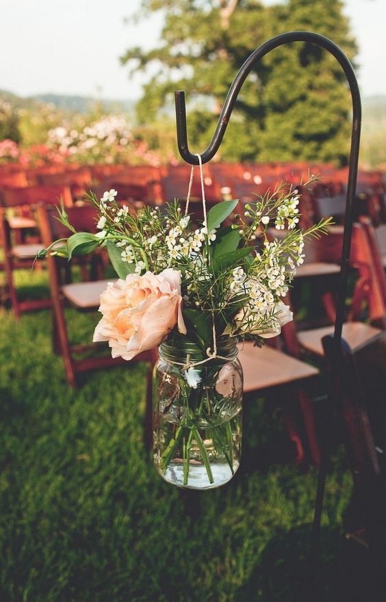 Outdoor Wedding Aisle Decor Ideas