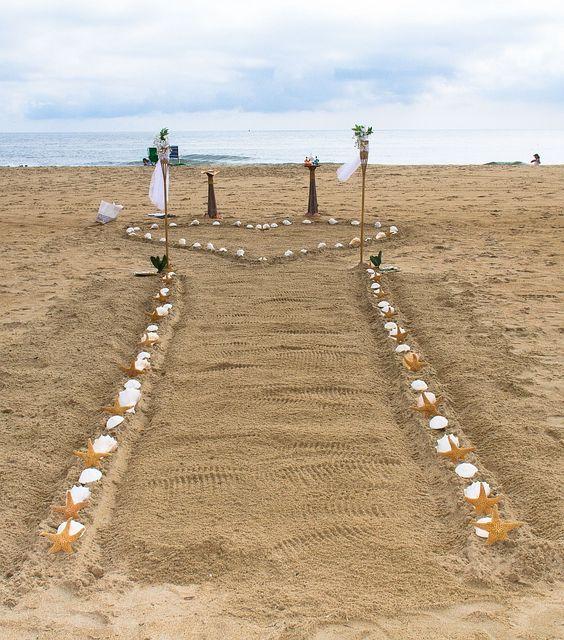 Beach Wedding Aisle Decor Ideas