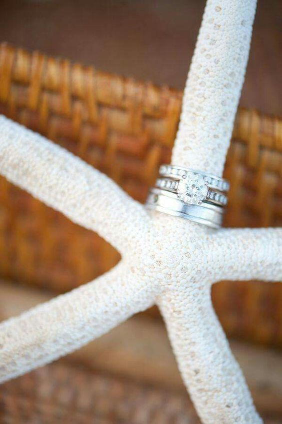 Beach wedding and this ring shot