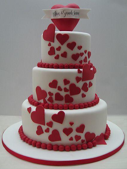 34 Awesome Valentine S Day Wedding Cakes Chicwedd
