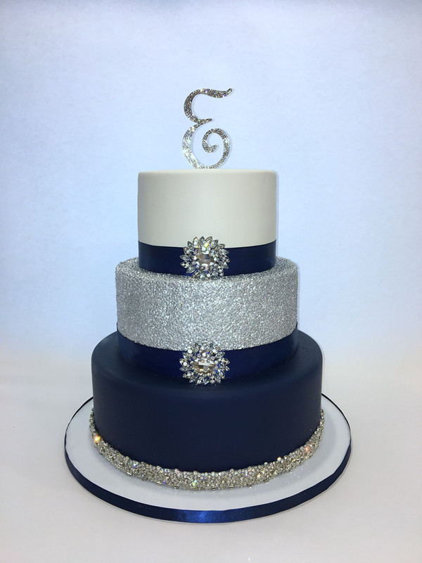 38 Elegant Blue Wedding Cake Ideas You Will Like Chicwedd