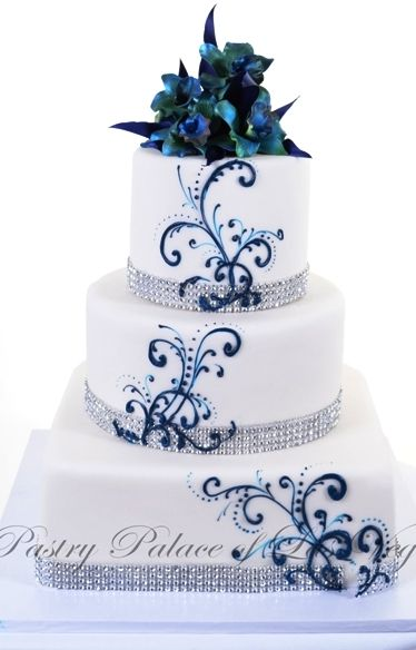 Elegant Blue Wedding Cake Ideas You Will Like